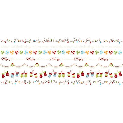Imaginisce - Polar Expressions Christmas Collection - Rub Ons - Season's Stringings Border