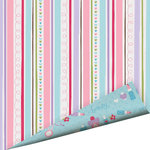 Imaginisce - Perfectly Posh Collection - 12 x 12 Double Sided Glitter Paper - Painted Stripes , BRAND NEW