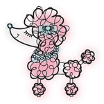 Imaginisce - Perfectly Posh Collection - Snag 'em Acrylic Stamps - Poodle , BRAND NEW