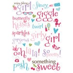 Imaginisce - Perfectly Posh Collection - Rub Ons - Something Sweet Words, BRAND NEW