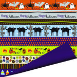 Imaginisce - Spooky Town Halloween Collection - 12 x 12 Double Sided Paper - Fraidy Cat , CLEARANCE