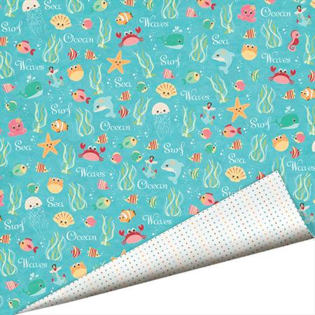 Imaginisce - Splash Dance Collection - 12 x 12 Double Sided Paper with Glossy Accents - Bathing Beauties, CLEARANCE