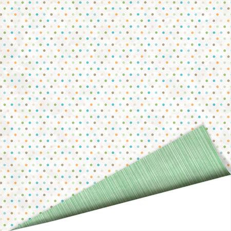 Imaginisce - Splash Dance Collection - 12 x 12 Double Sided Paper with Glossy Accents - Polka Dot Bikini, CLEARANCE