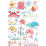 Imaginisce - Splash Dance Collection - 3 Dimensional Puffy Stickers - Sea