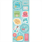 Imaginisce - Splash Dance Collection - Chipboard Stickers - Ocean Treasures