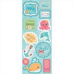 Imaginisce - Splash Dance Collection - Chipboard Stickers - Ocean Treasures