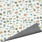 Imaginisce - Live Loud Collection - 12 x 12 Double Sided Paper with Glossy Accents - Garage Band, CLEARANCE