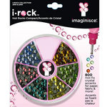 Imaginisce - I-Rock - Hot Rocks Compact - Self Adhesive Gems - Jewel Tones Assortment