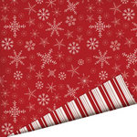 Imaginisce - Cottage Christmas Collection - 12 x 12 Double Sided Paper with Glossy Accents - Swirly Snowflakes
