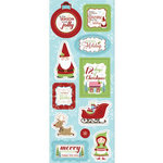 Imaginisce - Cottage Christmas Collection - Chipboard Stickers - Holiday Wishes