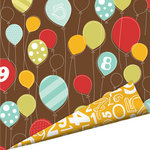 Imaginisce - Birthday Bash Collection - 12 x 12 Double Sided Paper with Glossy Accents - It's A Party, CLEARANCE