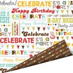 Imaginisce - Birthday Bash Collection - 12 x 12 Double Sided Paper with Glossy Accents - Hip Hip Hooray