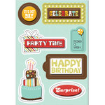 Imaginisce - Birthday Bash Collection - Sticker Stacker - 3 Dimensional Stickers with Glossy Accents - It's My Day, CLEARANCE