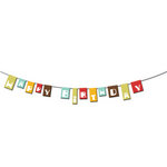 Imaginisce - Birthday Bash Collection - Paper Ribbons - Happy Birthday, CLEARANCE
