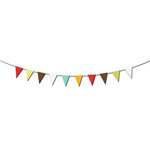 Imaginisce - Birthday Bash Collection - Paper Ribbons - Flags