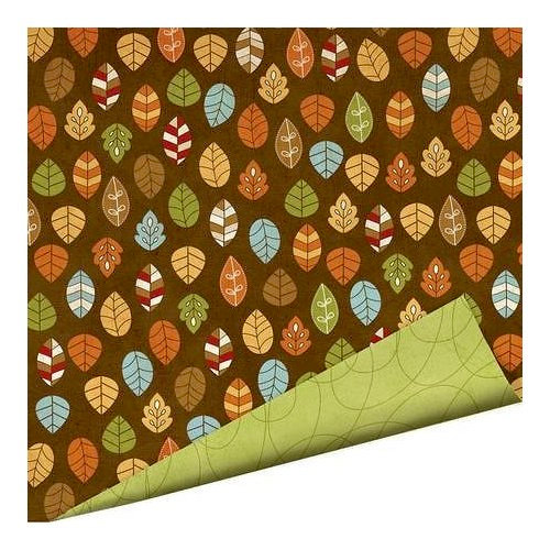 Imaginisce - Apple Cider Collection - 12 x 12 Double Sided Paper with Glossy Accents - Changing Leaves, CLEARANCE
