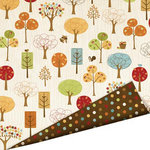 Imaginisce - Apple Cider Collection - 12 x 12 Double Sided Paper with Glossy Accents - Fall in Love