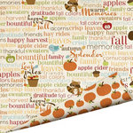 Imaginisce - Apple Cider Collection - 12 x 12 Double Sided Paper with Glossy Accents - So Grateful