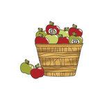 Imaginisce - Apple Cider Collection - Snag 'em Acrylic Stamps - Apples