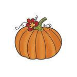 Imaginisce - Apple Cider Collection - Snag 'em Acrylic Stamps - Pumpkin