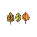 Imaginisce - Apple Cider Collection - Snag 'em Acrylic Stamps - Leaves
