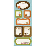 Imaginisce - Apple Cider Collection - Sticker Stacker - 3 Dimensional Stickers - Give Thanks