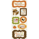 Imaginisce - Apple Cider Collection - Chipboard Stickers - Warm Memories