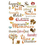 Imaginisce - Apple Cider Collection - Rub Ons - So Blessed Words
