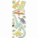 Imaginisce - Dinosaur Roar Collection - Denim Stickers - Dino, CLEARANCE