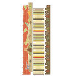 Imaginisce - Dinosaur Roar Collection - Adhesive Strip Borders with Varnish Accents - Dino Tracks, CLEARANCE