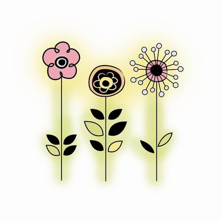 Imaginisce - Enchanted Collection - Snag 'em Acrylic Stamps - Princess Petals