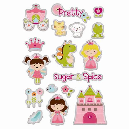 Imaginisce - Enchanted Collection - 3 Dimensional Epoxy Glass Stickers - Dreams Come True