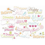 Imaginisce - Enchanted Collection - Die Cut Cardstock Pieces - Make Believe