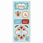 Imaginisce - Animal Crackers Collection - Chipboard Stickers with Glossy Accents - Ladies and Gentlemen!