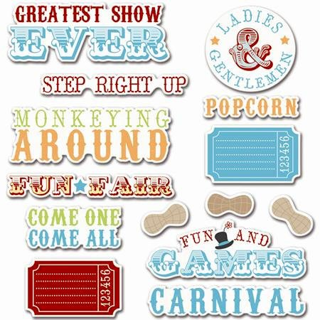 Imaginisce - Animal Crackers Collection - Die Cut Cardstock Pieces with Glossy Accents - Greatest Titles on Earth