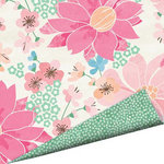 Imaginisce - Garden Party Collection - 12 x 12 Double Sided Paper with Glossy Accents - Darling Dahlias