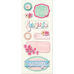 Imaginisce - Garden Party Collection - Sticker Stackers - 3 Dimensional Stickers with Glossy Accents - Johnny Jump-ups