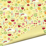 Imaginisce - Berrylicious Collection - 12 x 12 Double Sided Paper with Glossy Accents - Cherry Lemonade