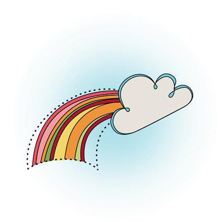 Imaginisce - Berrylicious Collection - Snag 'em Acrylic Stamps - Rainbow