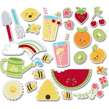 Imaginisce - Berrylicious Collection - Die Cut Cardstock Pieces - Juicy Fruits