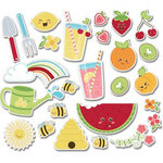 Imaginisce - Berrylicious Collection - Die Cut Cardstock Pieces - Juicy Fruits