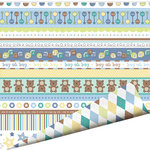 Imaginisce - Little Cutie Collection - 12 x 12 Double Sided Paper with Glossy Accents - Boy Oh Boy