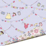 Imaginisce - Little Cutie Collection - 12 x 12 Double Sided Paper with Glossy Accents - Sweet Baby