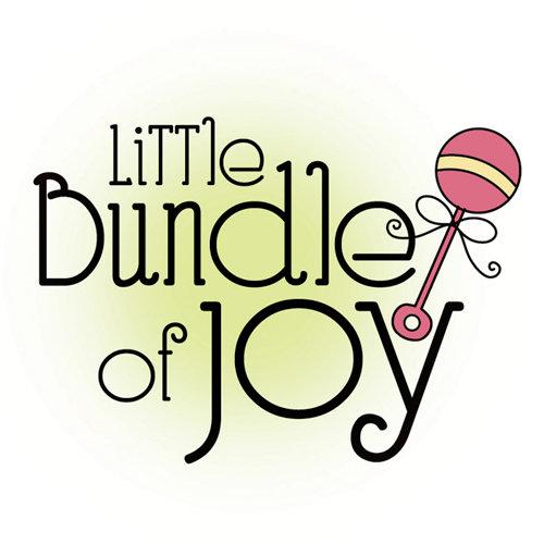 Imaginisce - Little Cutie Collection - Snag 'em Acrylic Stamps - Little Bundle of Joy