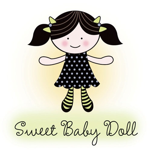 Imaginisce - Little Cutie Collection - Snag 'em Acrylic Stamps - Sweet Baby Doll