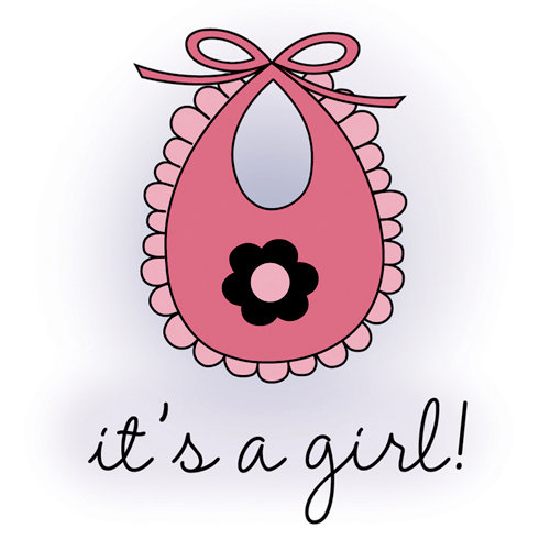 Imaginisce - Little Cutie Collection - Snag 'em Acrylic Stamps - It's A Girl
