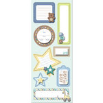 Imaginisce - Little Cutie Collection - Sticker Stackers - 3 Dimensional Stickers with Glossy Accents - Baby Babble - Boy
