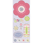 Imaginisce - Little Cutie Collection - Chipboard Stickers with Glossy Accents - Daddy's Little Girl