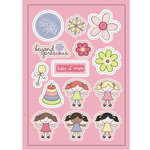 Imaginisce - Little Cutie Collection - Canvas Stickers - Baby of Mine - Girl