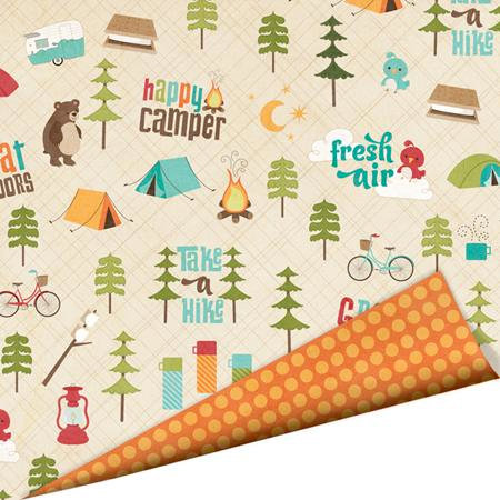 Imaginisce - Happy Camper Collection - 12 x 12 Double Sided Paper with Glossy Accents - Fresh Air